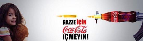Gazze İçin Filistin İçin Coca Cola İçmeyin